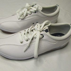 Keds Womens 8 White Leather Shoes Athletic Spirit